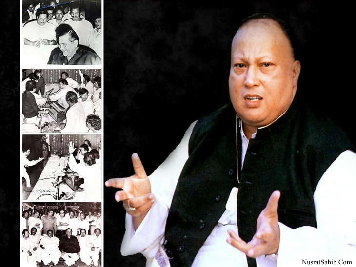 Nusrat Fateh Ali Khan & his father <B>Fateh Ali Khan</B> came first time in <B>India</B> on the <B>Rishi Kapoor</B><sup> s</sup> wedding and recorded first song in 1981 | NusratSahib.Com