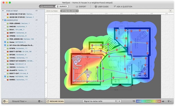 WiFi Heatmap Ready Screen