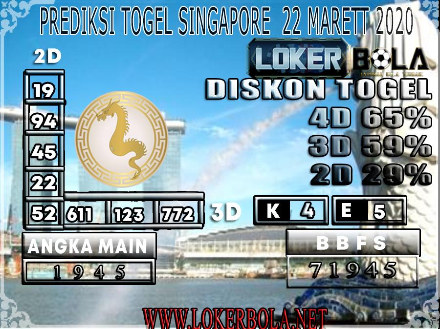 PREDIKSI TOGEL SINGAPORE LOKER BOLA 22 MARET 2020