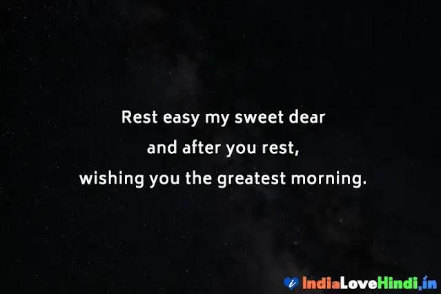 good night status for love crush