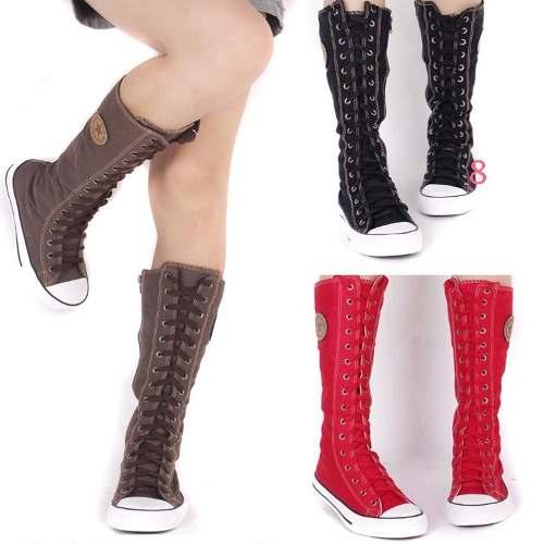 Alentar triple Hora  botas converse mujer largas - Tienda Online de Zapatos, Ropa y Complementos  de marca