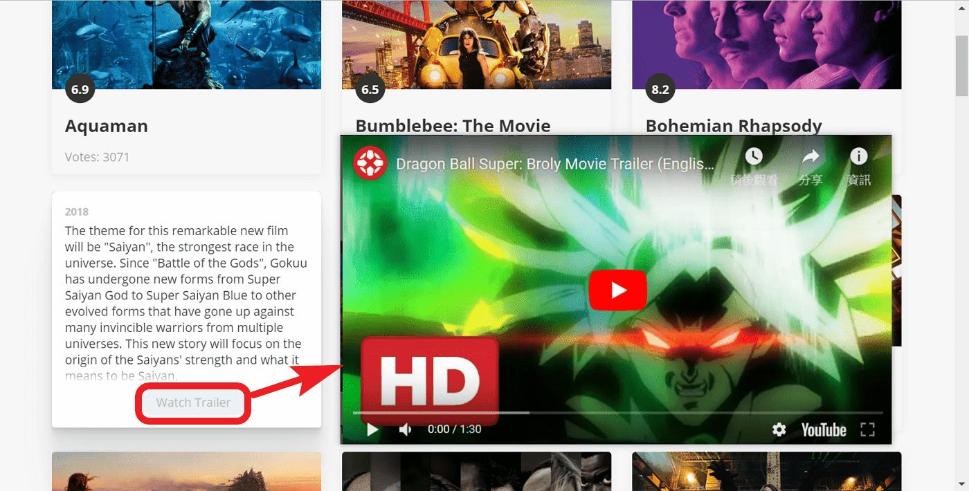 RaterFox 新增分頁時隨機顯示熱門電影
