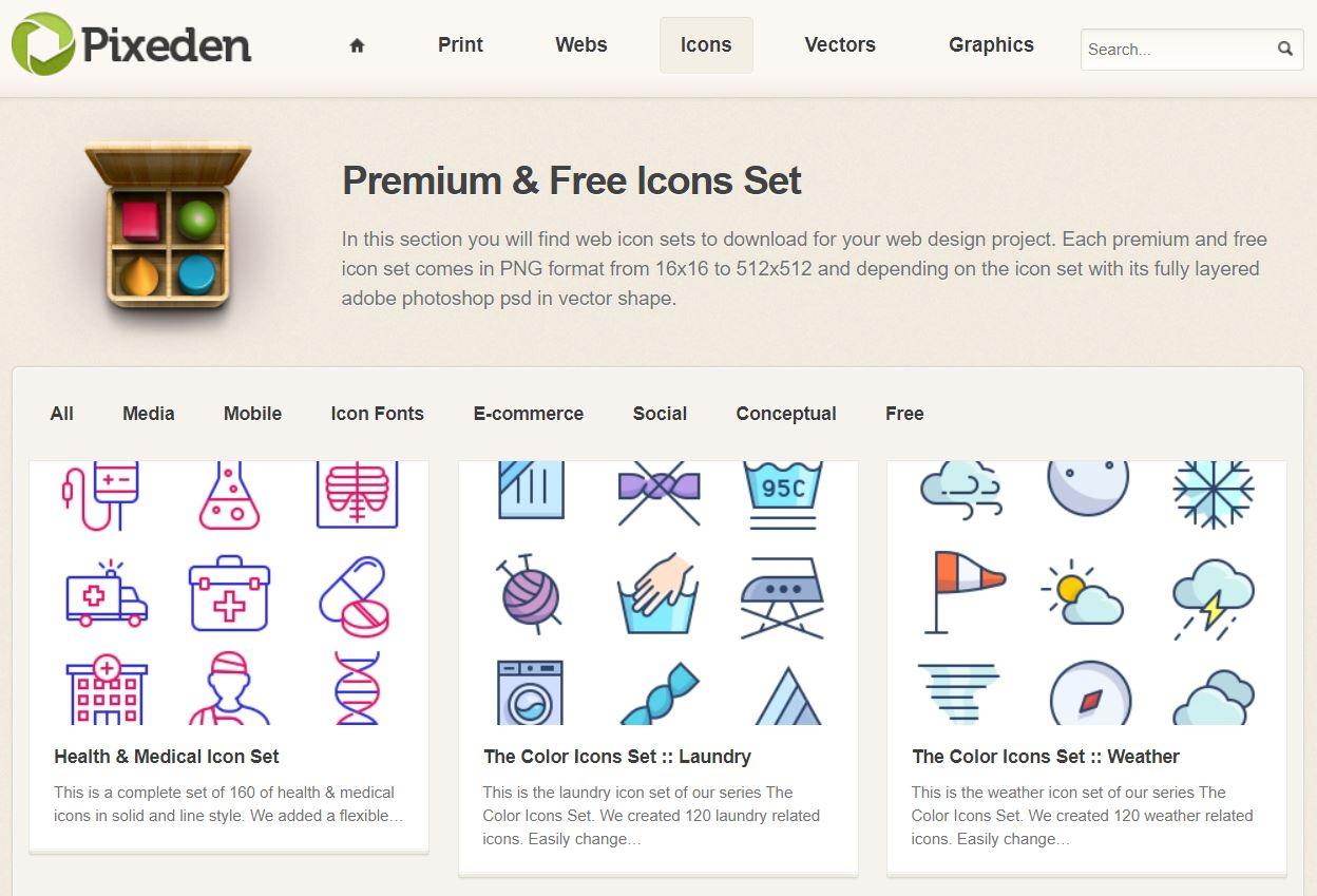 Pixeden icons