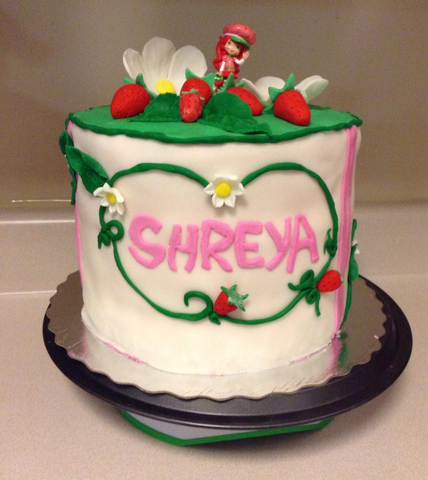 My Cakes N Crafts: Strawberry Shortcake Birthday Cake