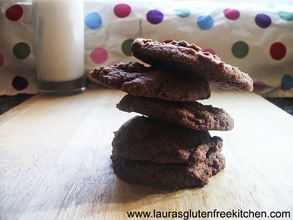 Gluten free egg-less chocolate cookies