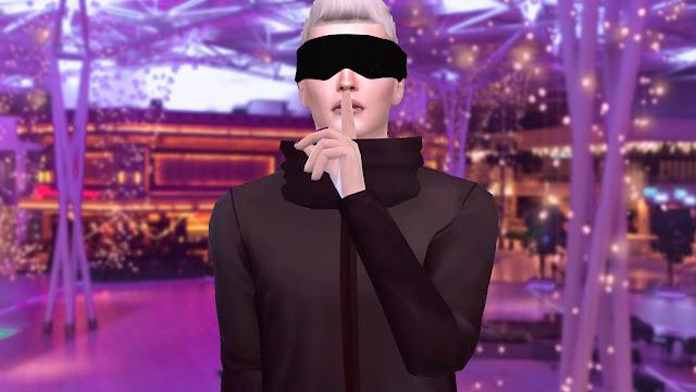 Sims 4 Gojo Satoru Blindfold CC Download - Jujutsu Kaisen