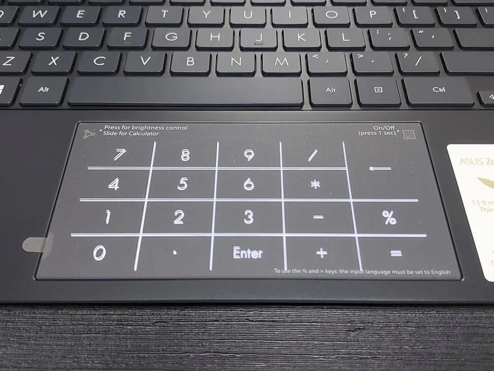 ASUS ZenBook 13 OLED UX325 NumberPad 2.0