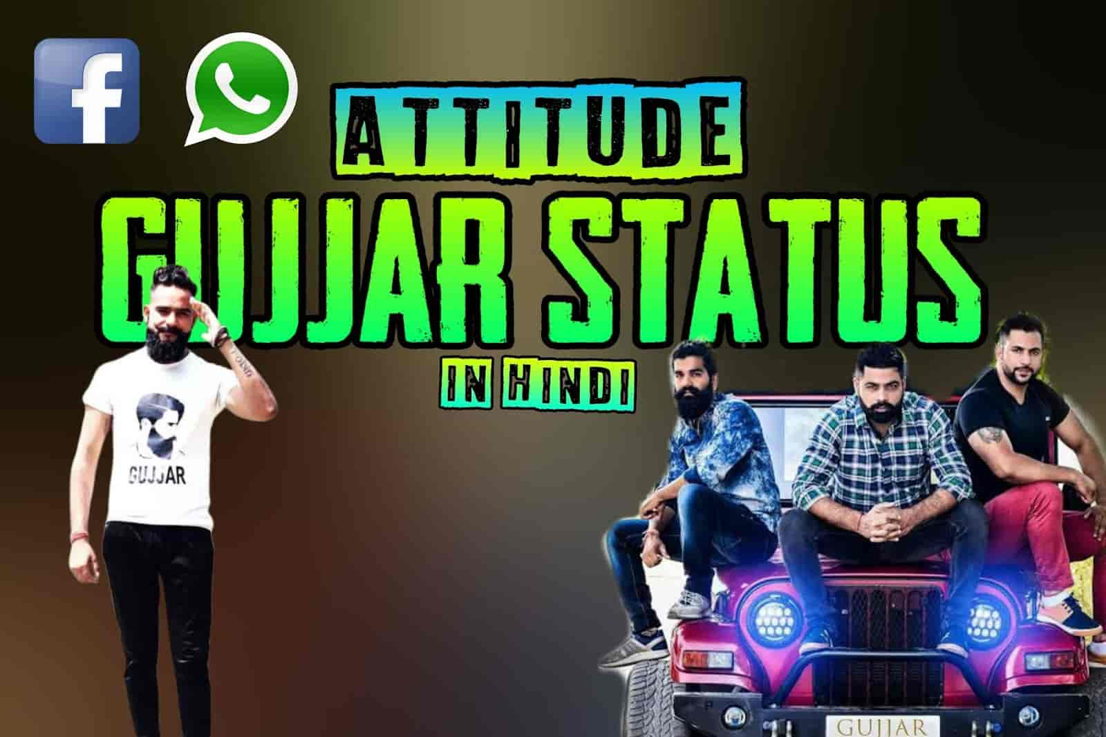 attitude gujjar status