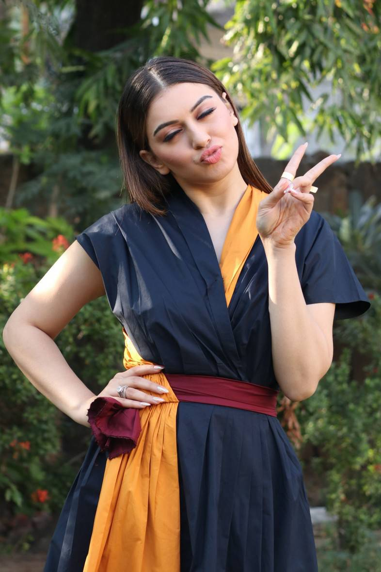 Kollywood Actress Hansika Stills At Movie Press Meet