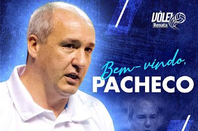 Marcos Pacheco novo técnico do Vôlei Renata