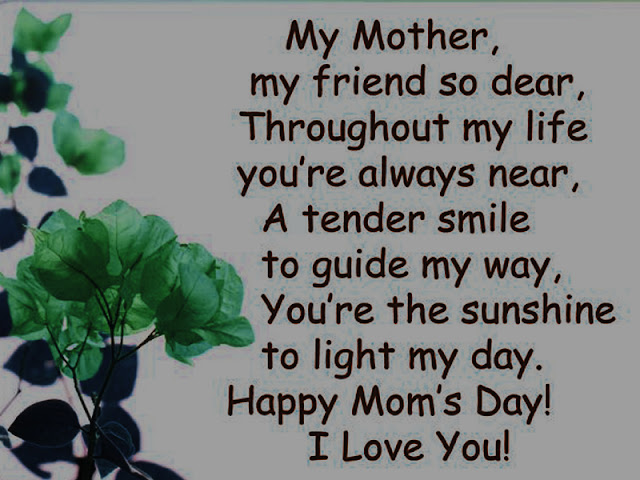 Best & Loving Poems Of Mothers Day From Son And Daughter