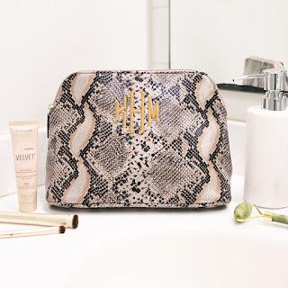 Snakeskin Cosmetic Case