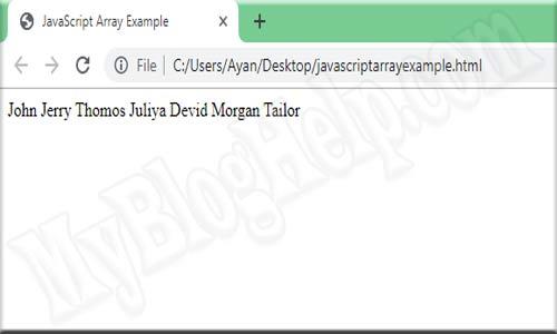 javascript array example