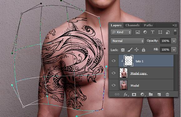 Tutorial Cara Membuat Tato Menggunakan Photoshop ~ --BLOG-KU--