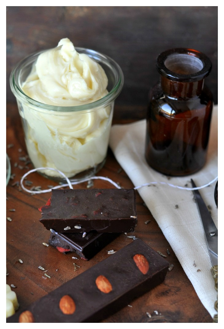 DIY Body Butter and Chocolate, a great last-minute-gift for christmas!