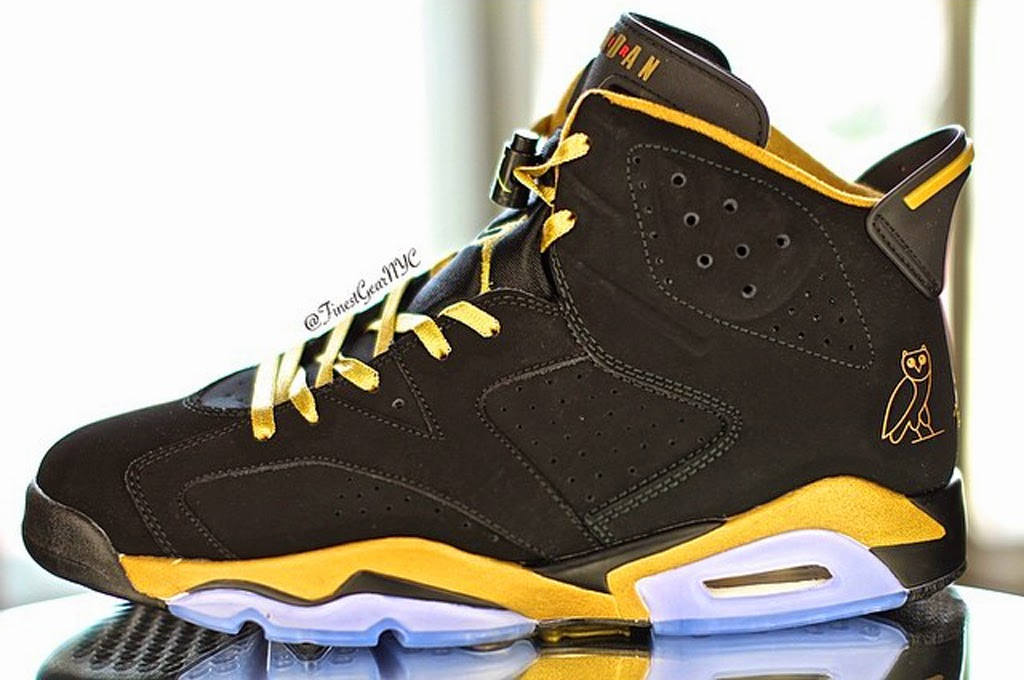 ... accents and the signature OVO owl on the heel. The luxurious  combination of black and gold make for a great colorway of the cheap jordan  shoes china 6. 811090e93