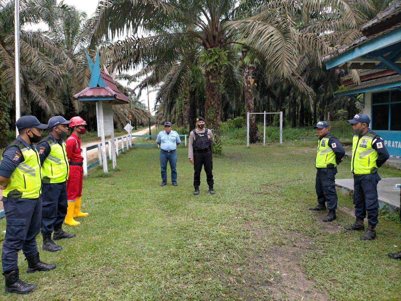 Sat Sabhara Polres Sukamara Patroli Sambangi Pos Security Perusahaan Kebun Sawit