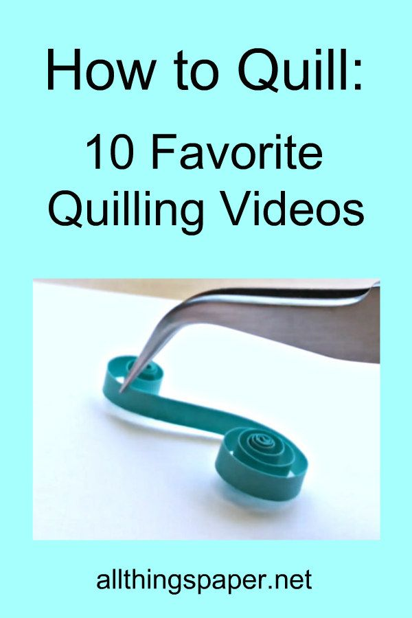 quilled S scroll being place with bent tip tweezers on Pin about 10 favorite quilling videos