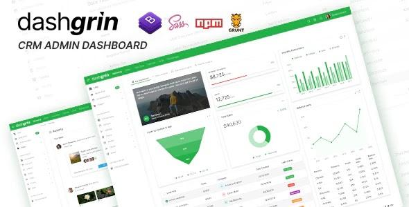 Responsive Admin Dashboard Template + UI Kit
