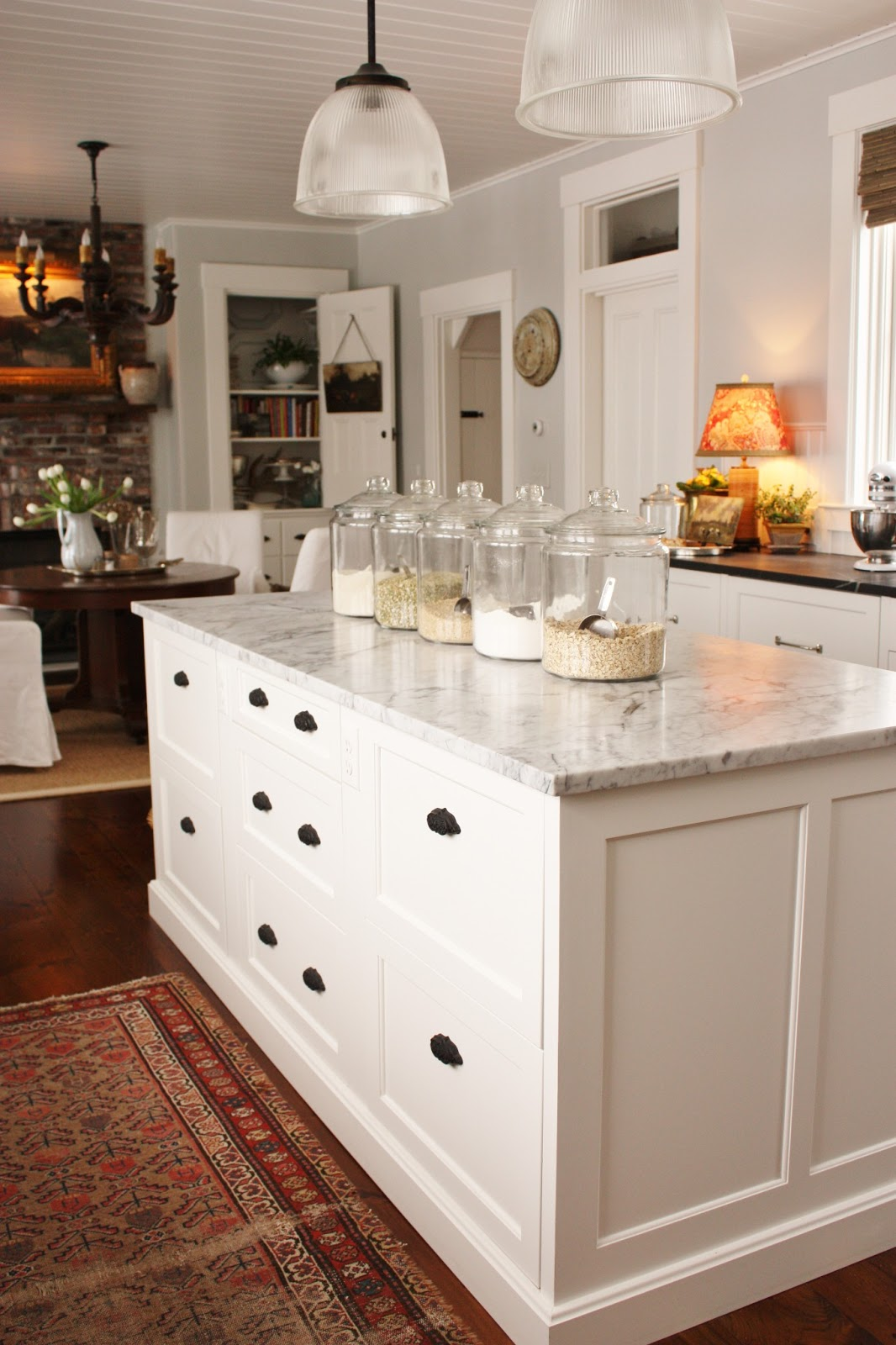 for the love of a house: kitchen drawers- the island