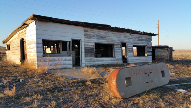 Abandoned Gas Station in Cisco Utah ghost town