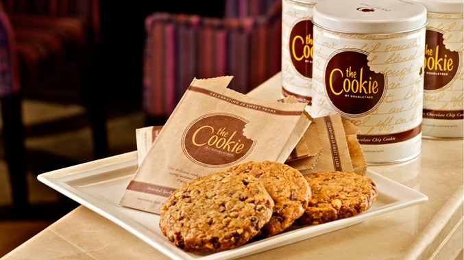 walk into any Doubletree Hotel and get a free chocolate chip cookie ...