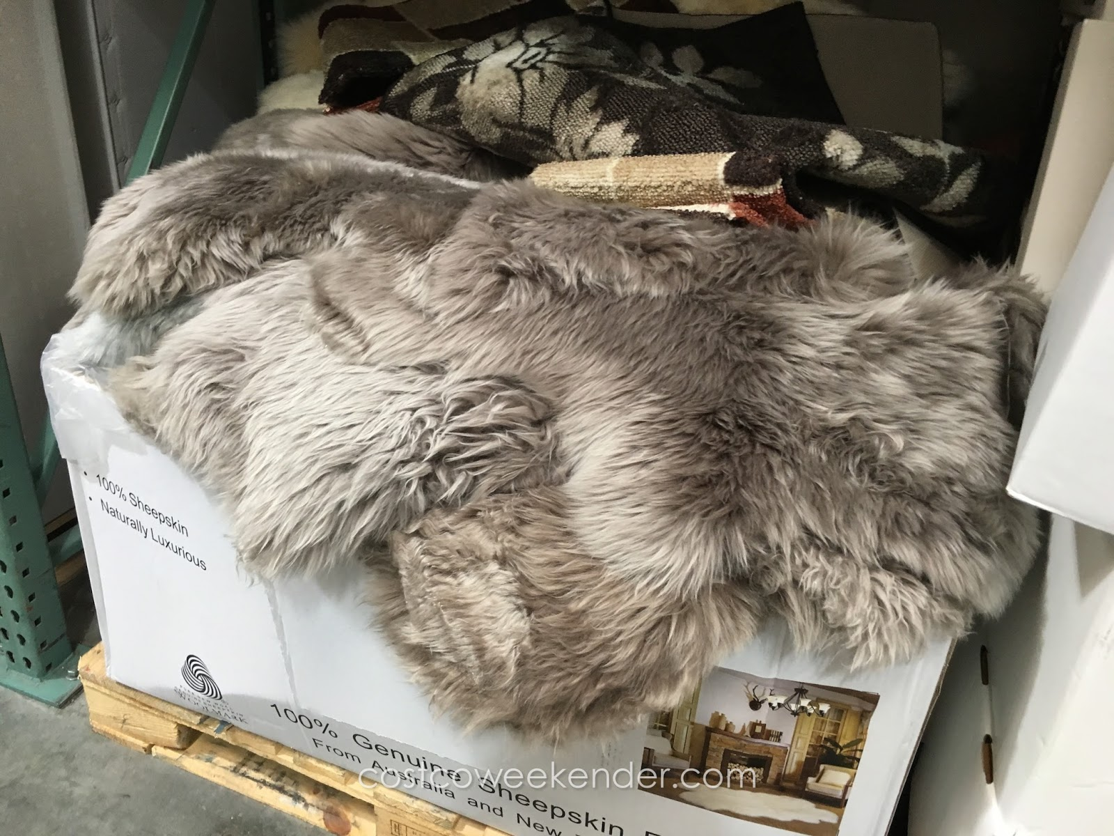 Woolmark Quad Area Genuine Sheepskin Rug Costco Weekender