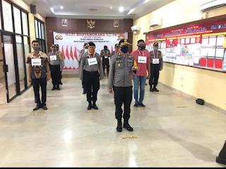 Kapolres dan PJU Polres Pangkep melakukan Gladi Resik Mabes Polri