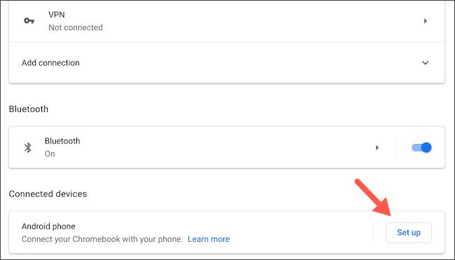 قم بتوصيل هاتف Android بجهاز Chromebook