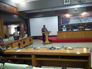 Sekda Provinsi Jambi Secara Resmi Membuka Rakor Tim Koordinasi Percepatan Penanggulangan Kemiskinan (TKPK) Provinsi Jambi Tahun 2019.