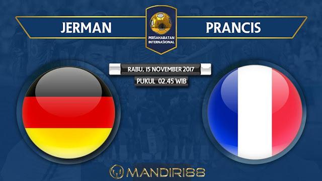 Timnas Jerman akan menjamu timnas Prancis di RheinEnergieStadion Berita Terhangat Prediksi Bola : Germany Vs France , Rabu 15 November 2017 Pukul 02.45 WIB