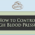 How to Control High Blood Pressure #infographic