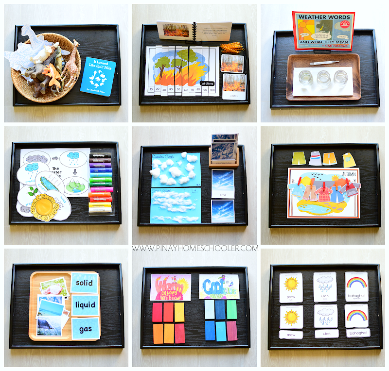 Weather Activity Trays for Kindergarten and First Graders