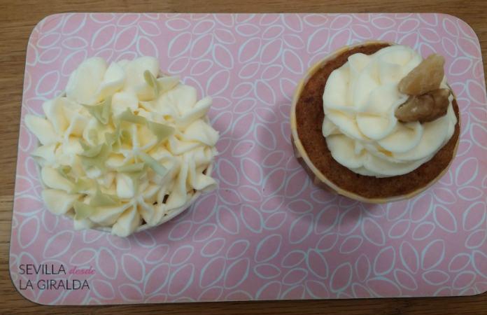 Cupcake de Limón, y cupcake Carrot Cake en Ofelia Bakery Sevilla