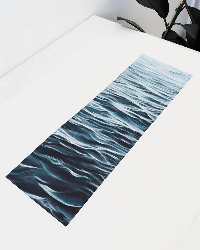 The sea wave, which was created by man with a pencil