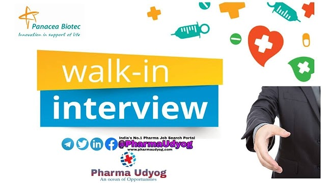 Panacea Biotech | Walk-in for Medical Representatives at Bangalore/Mumbai/Chennai/Delhi | 27-28 Sep 2019 | Pharma Jobs