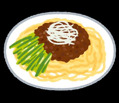 ジャージャー麺のイラスト