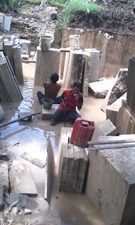 pengambilan bahan alam barokah stone