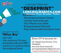 Loker Surabaya Terbaru di Prima Graphia Juli 2019
