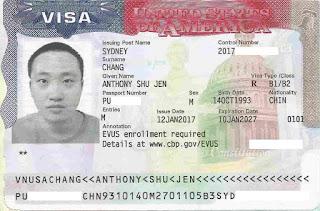 كيف تبدو تأشيرة الولايات المتحدة؟