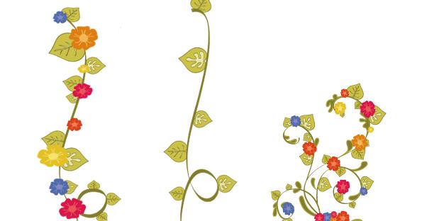 Bordes de flores para decorar | Imagenes para imprimir ...