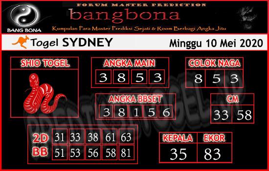 Prediksi Togel Sydney Minggu 10 Mei 2020 - Prediksi Bang Bona Sydney