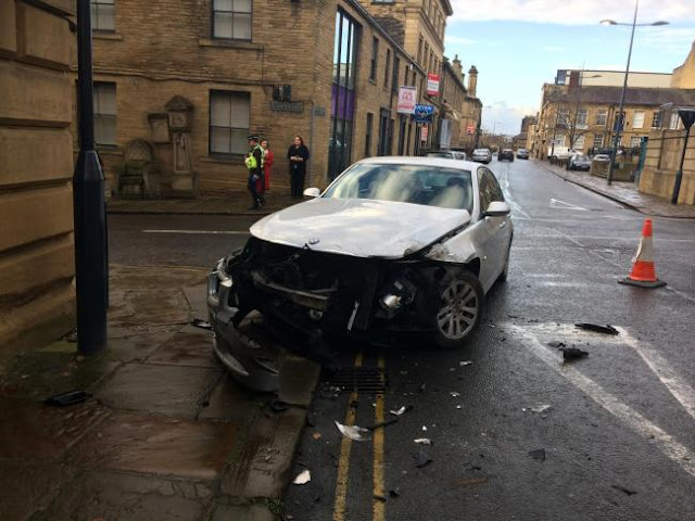 Man escapes serious injury after front of his car ripped off in hit and run crash