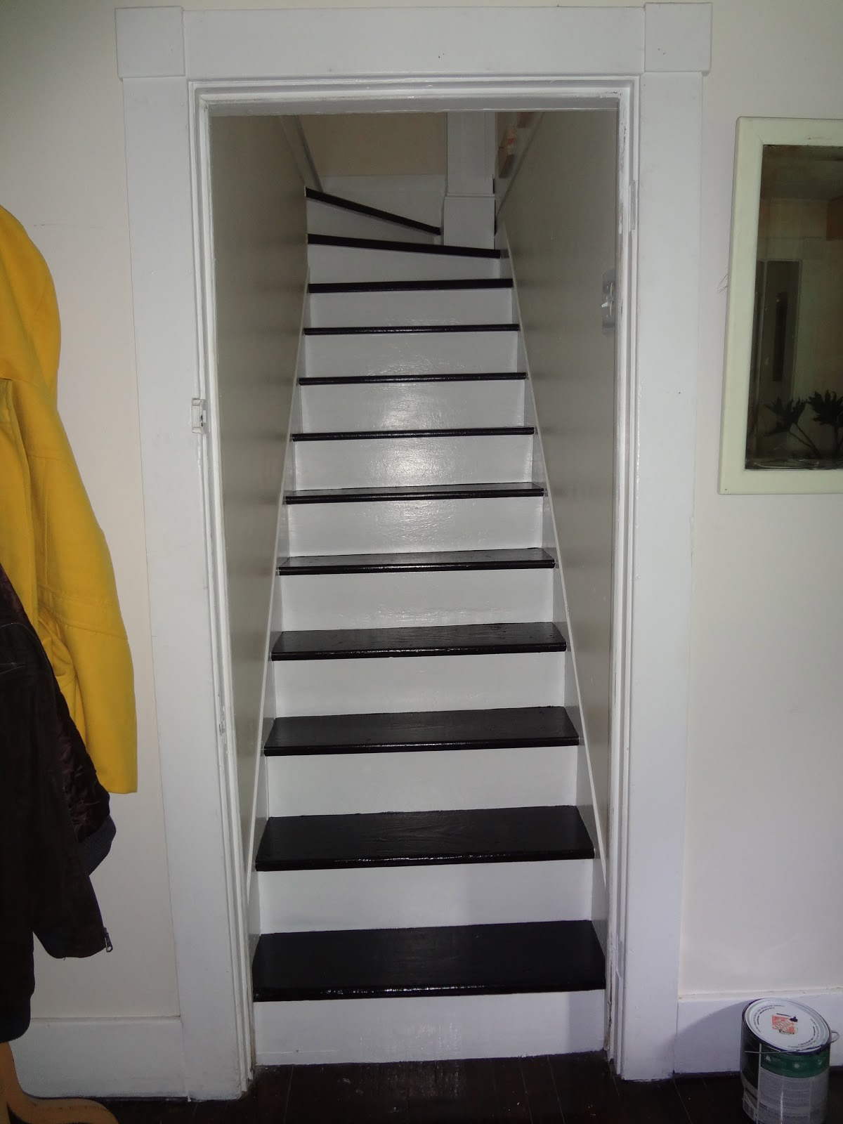 Heir And Space Black And White Stairs