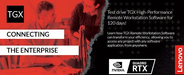 Lenovo oferece licença de 120 dias do Software TGX Remote Workstation
