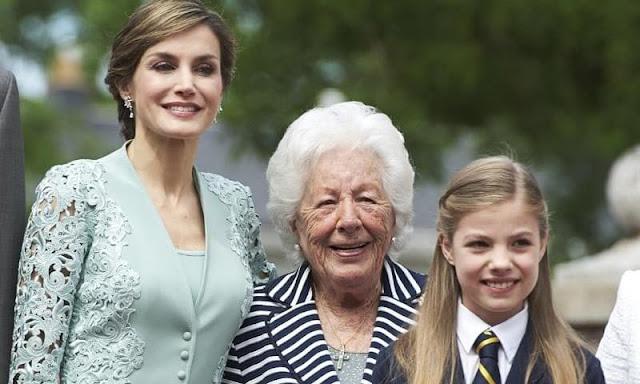 Queen Letizia's grandmother, Menchu Alvarez de Valle, has passed away at the age of 93. Jesus Jose Ortiz Alvarez, the father of Queen Letizia