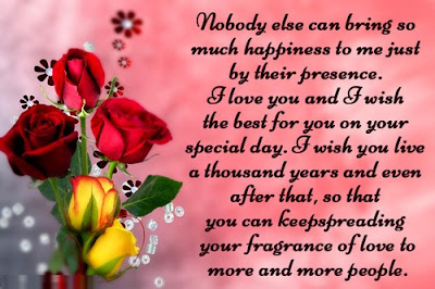 Happy Birthday wishes quotes for wife: nobody else can bring so much happiness to me just by their presence.