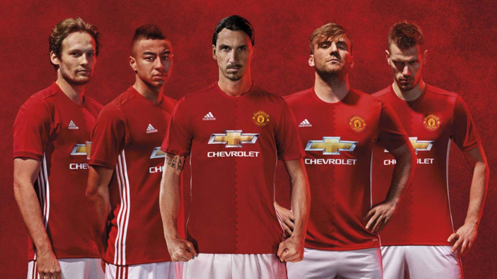 718fae4c5 Buy Manchester United 2016-17 Home Jersey Online. Buy here. Adidas used two  tones of red color on the front of jersey. Two shades of hexagonal pattern  is ...