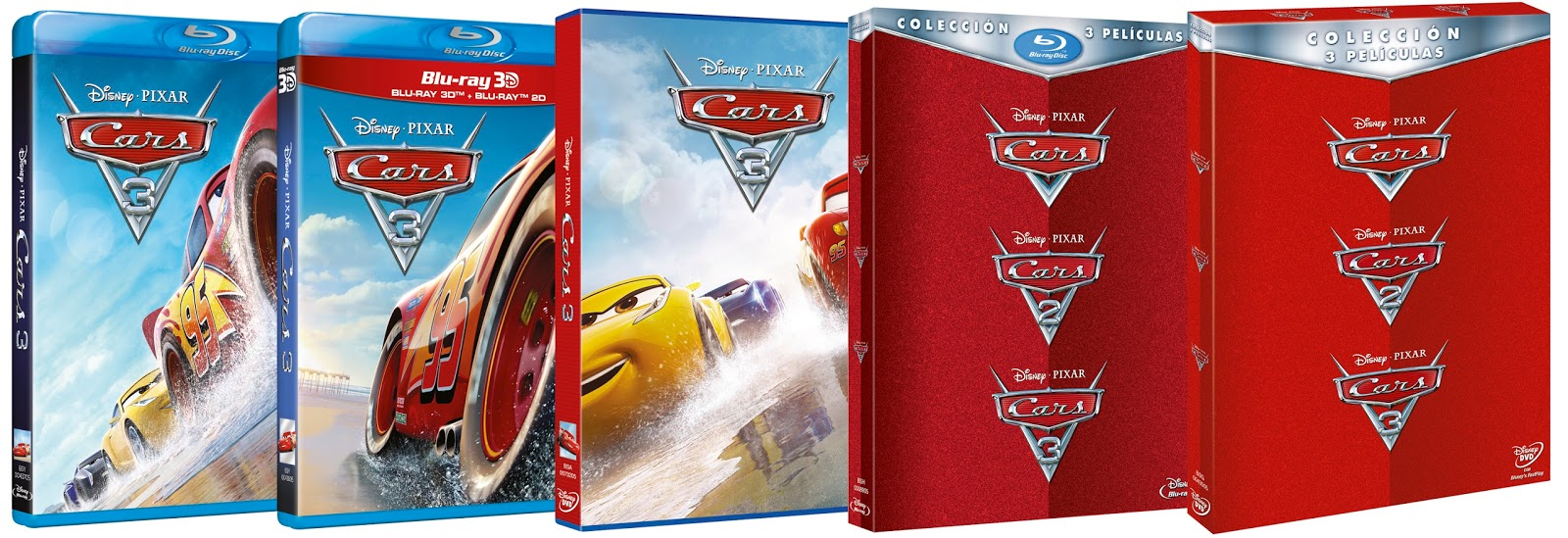 los del s tano cars 3 en dvd blu ray y plataformas digitales. Black Bedroom Furniture Sets. Home Design Ideas