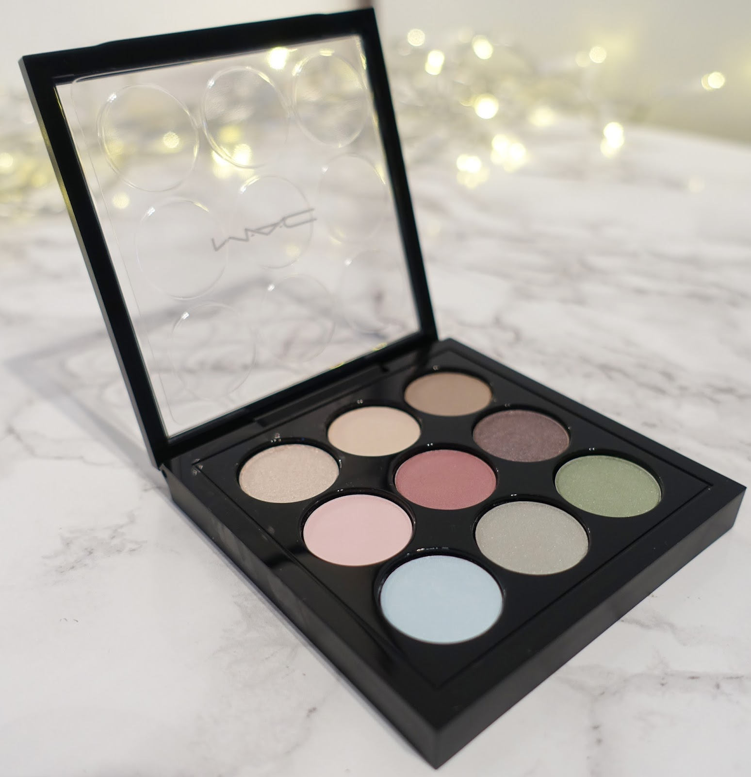 Image showing the MAC Pastel Times Nine eye shadow palette, copyright Is-This-Mutton blog for the over-40s